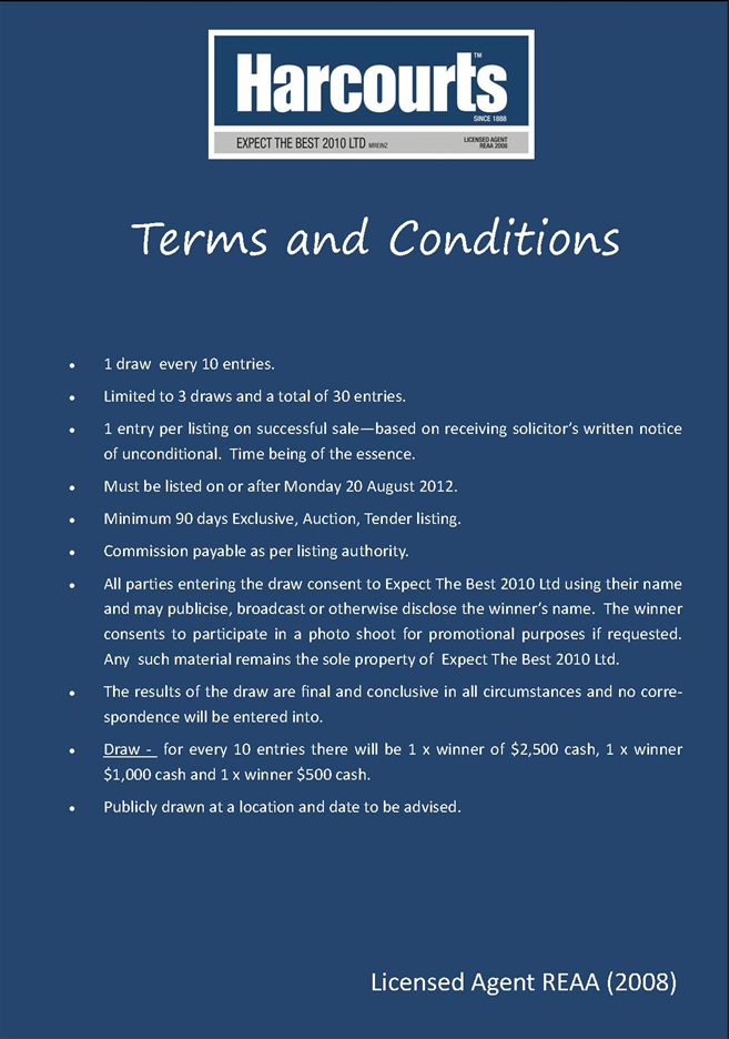 public terms conditions