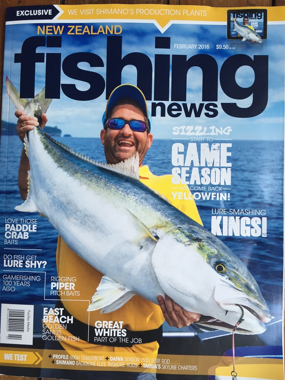 When I'm not selling real estate you will see out on the water. Check out the cover shot.