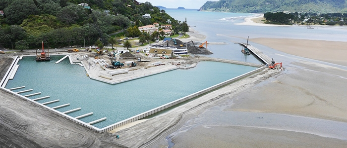 Tairua Marina under construction