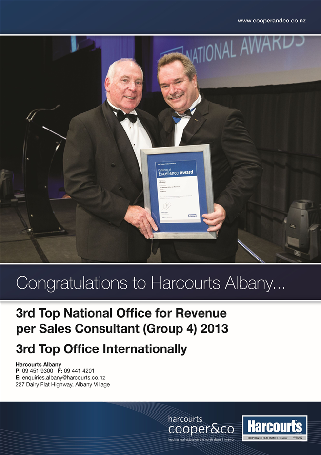 Awards | Harcourts Cooper & Co Real Estate Albany Ltd