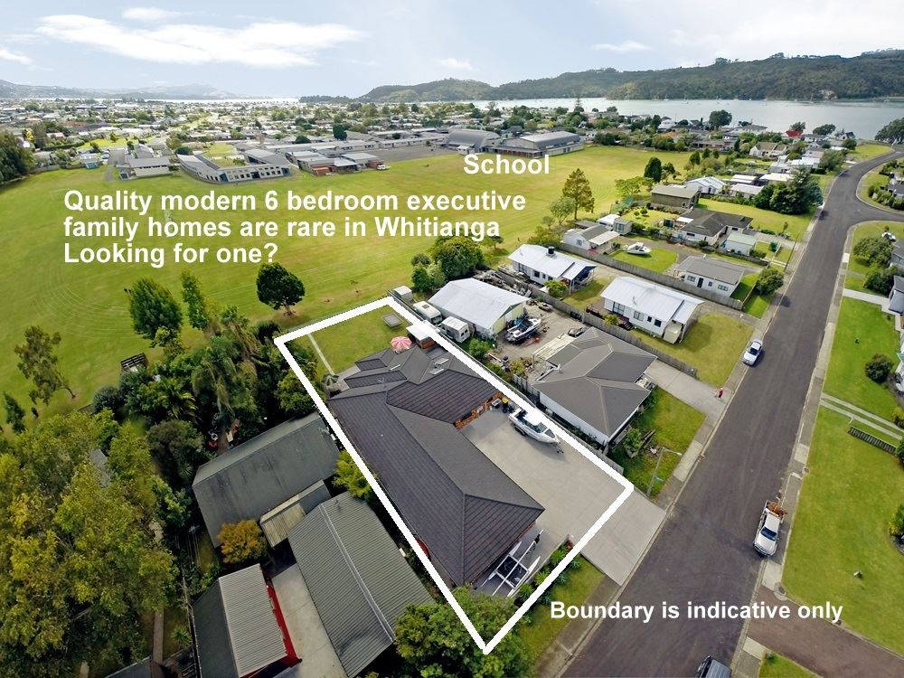Supersized executive family homes are rare in Whitianga