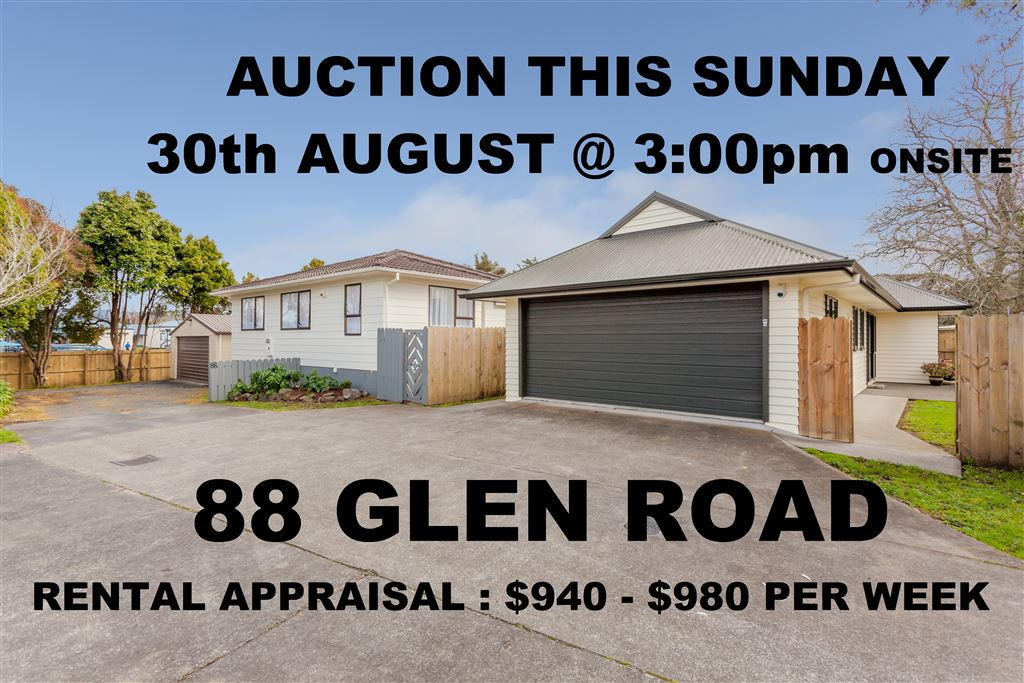 Auction This Sunday - Home & Income: $940 - $980 Rent Pr Wk