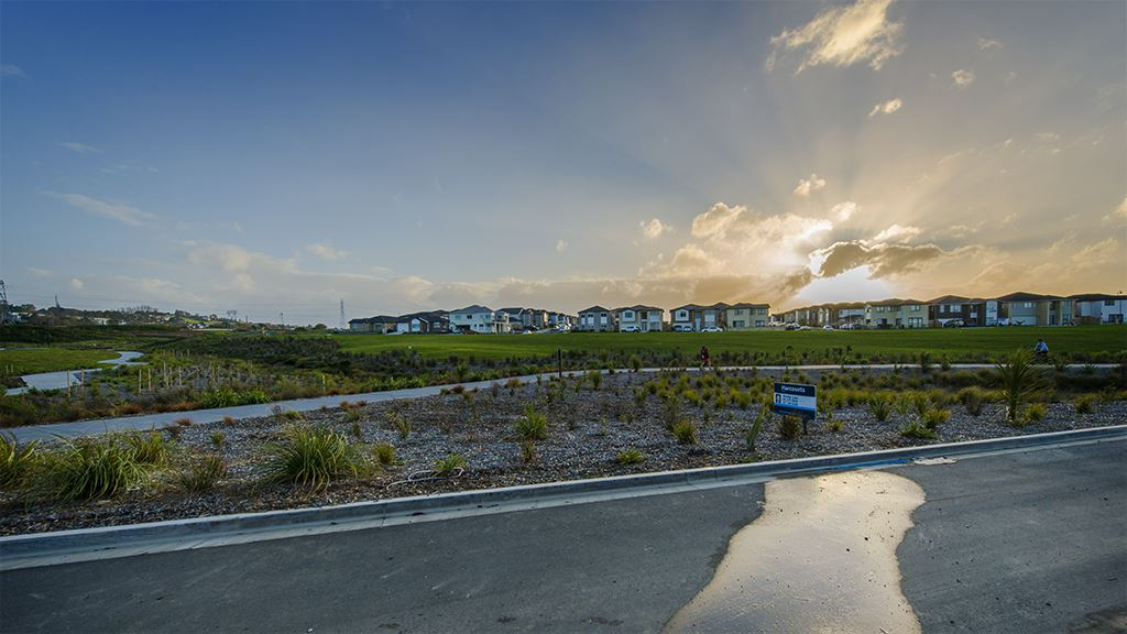 Brand new gorgeous home with a beautiful view over the reser