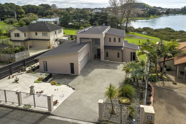 Architecturally designed with lagoon views!