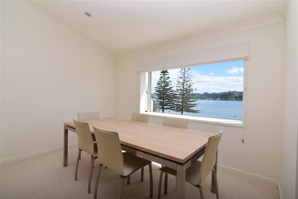 Top level, dining area with Harbour view window
