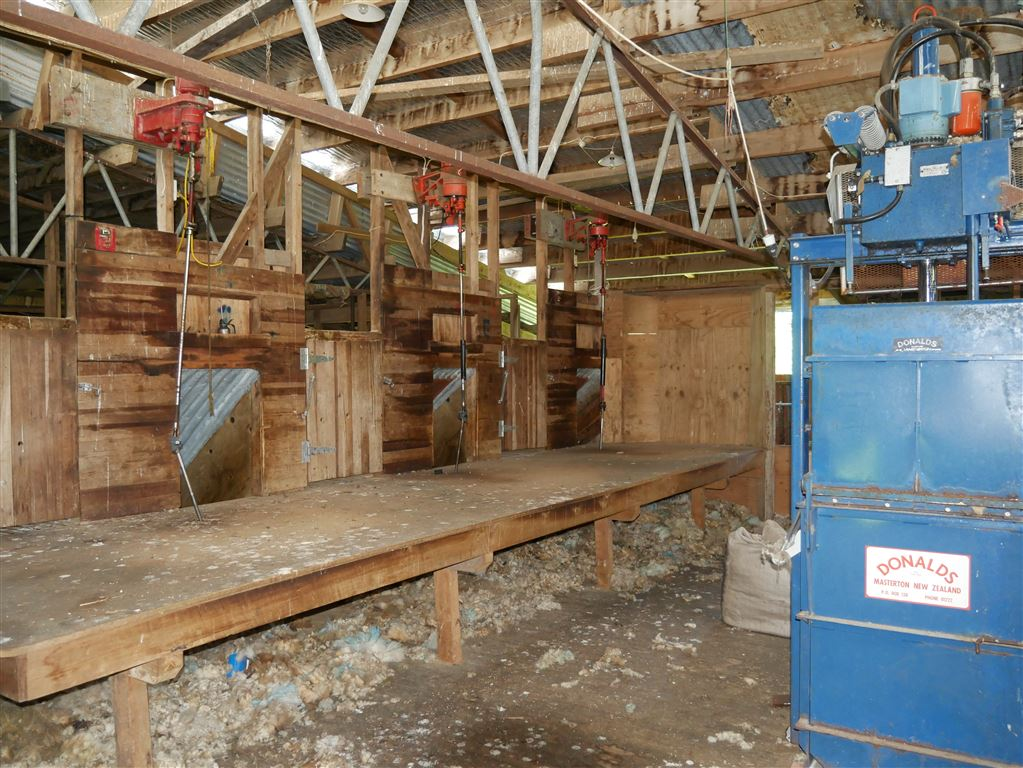shearing shed on home farm