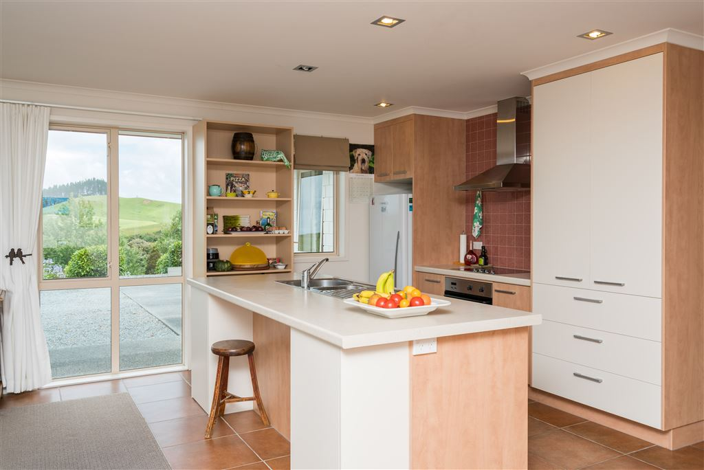 Kitchen with magical outlook to the rural vista