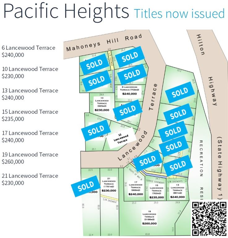 Pacific Heights Subdivision - Ocean View Sections