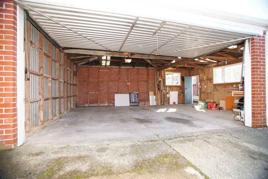 Garage with workshop area