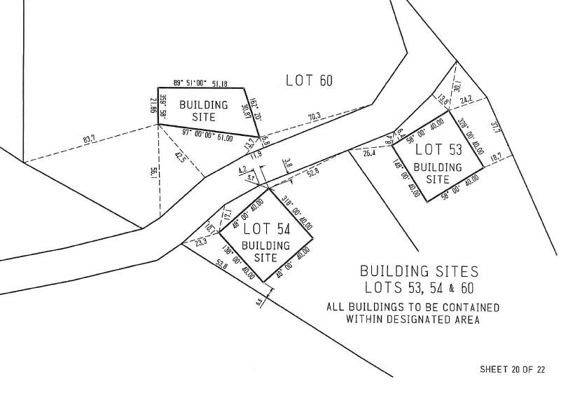 Lot 54 Building Envelope