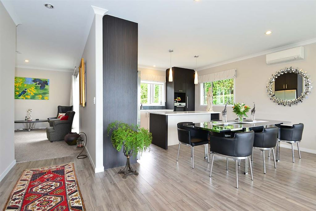 ... the view as you enter, left to the second lounge and bedrooms - right to the open plan living