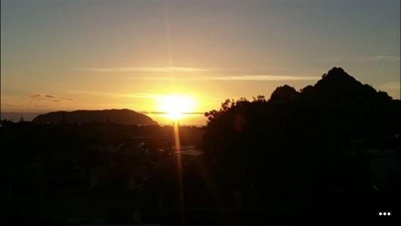 Sunrise taken from deck.