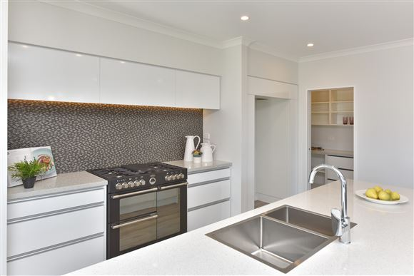 Stylish and Highly Functional Kitchen with Walk-In-Pantry