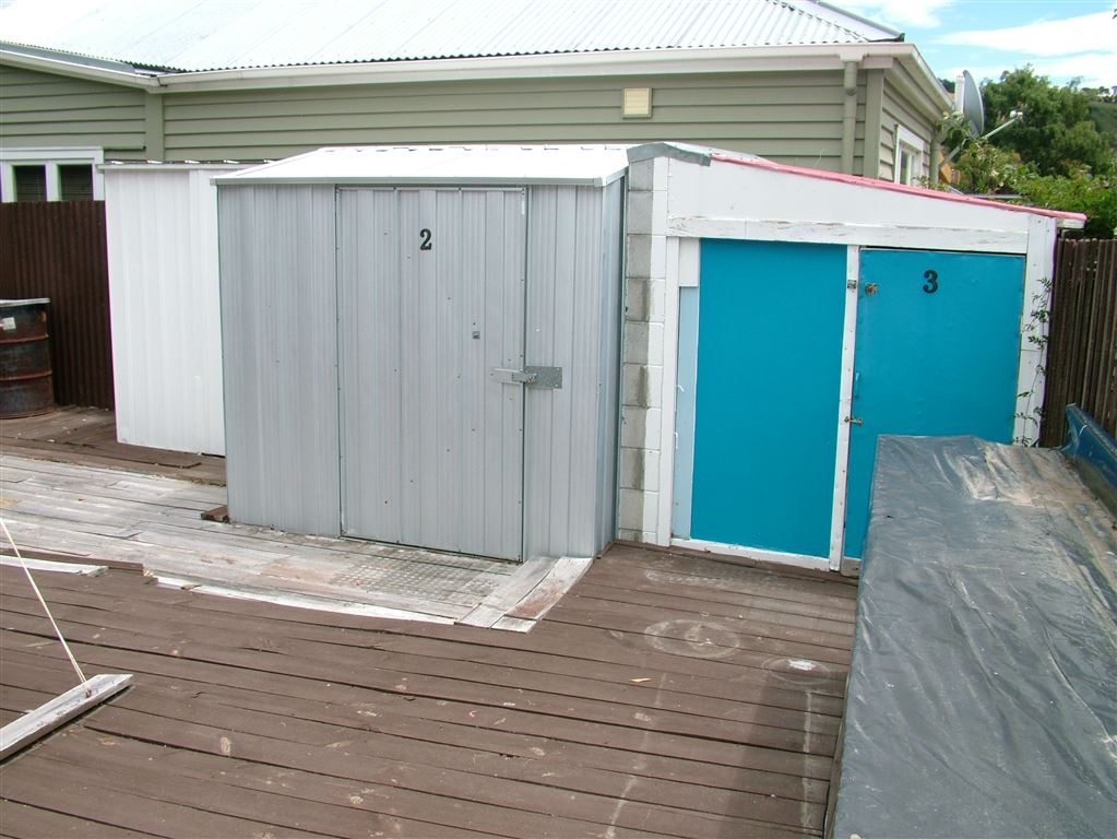 the three sheds that stay with the property