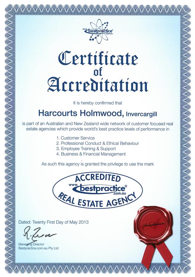 Best Practice Certificate