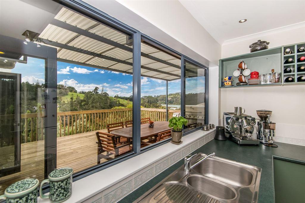 View through the kitchen window