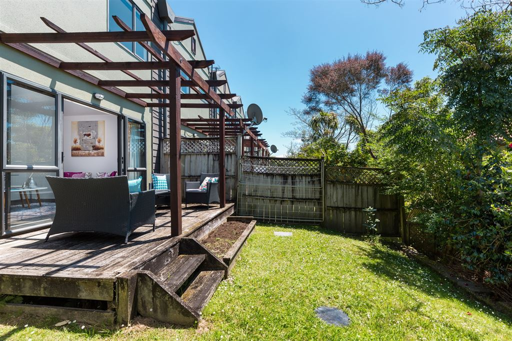 Rear deck and garden
