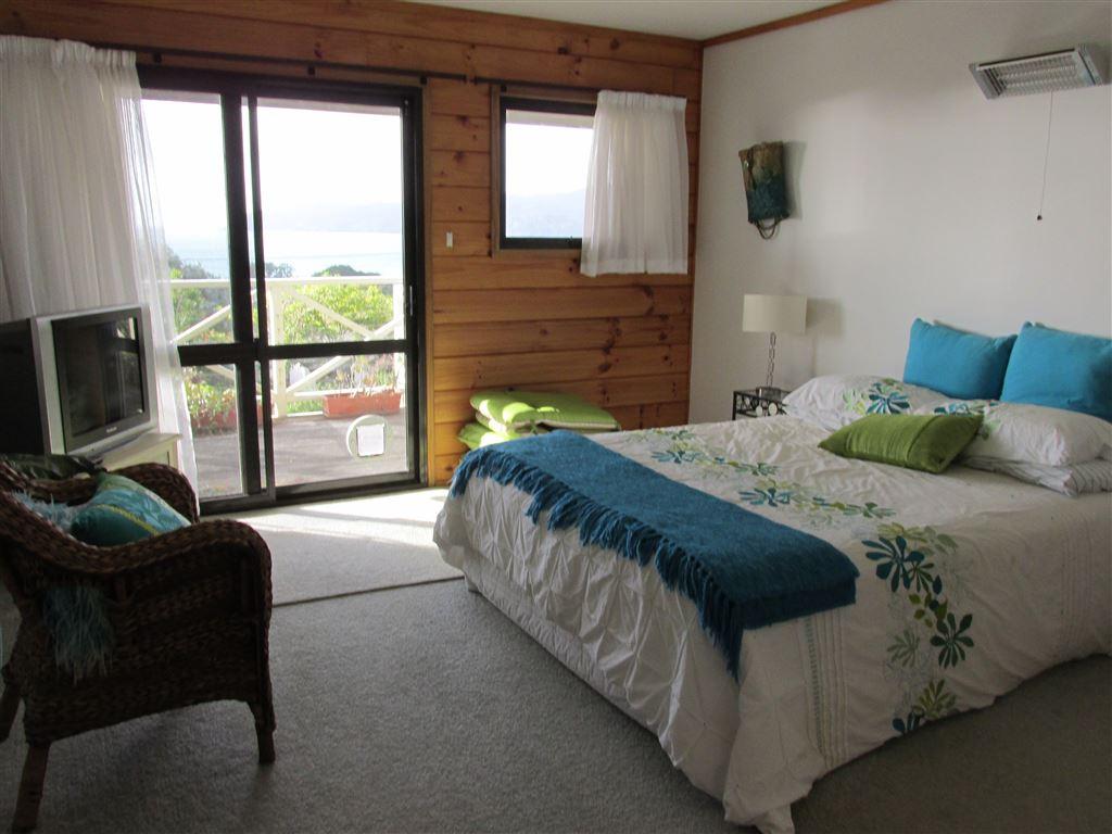 Master bedroom opens onto deck