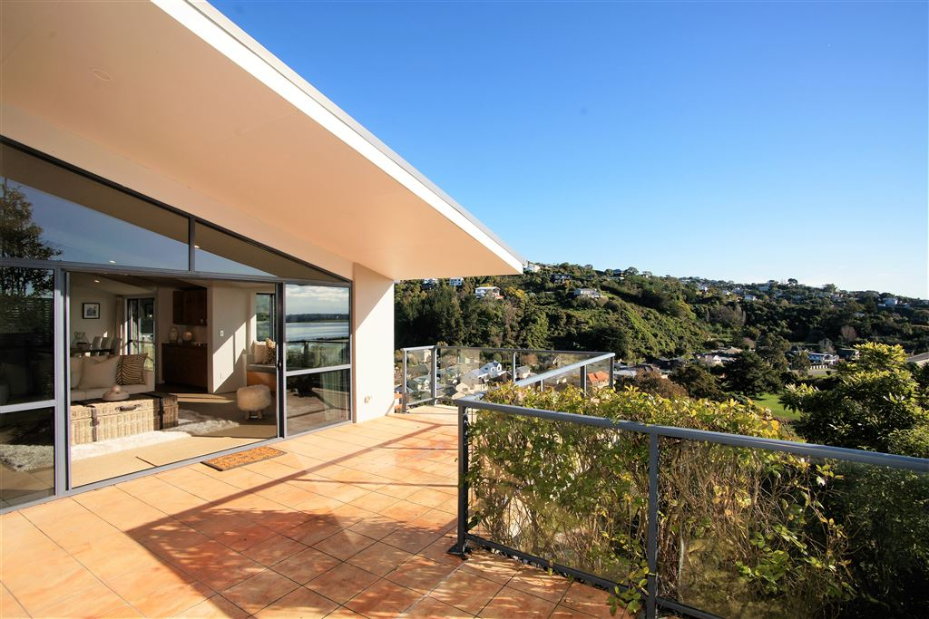 The mid level balcony,  ideal for outdoor entertaining