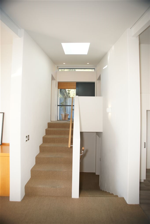 Central stairwell to all levels