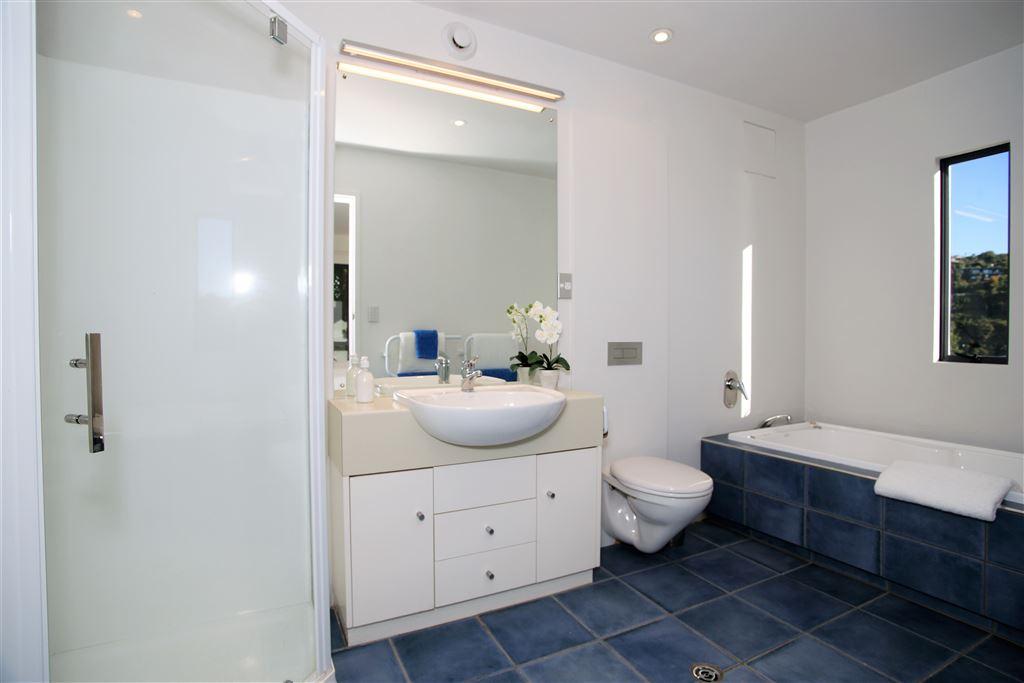 Ensuite for bedroom 1, lower level