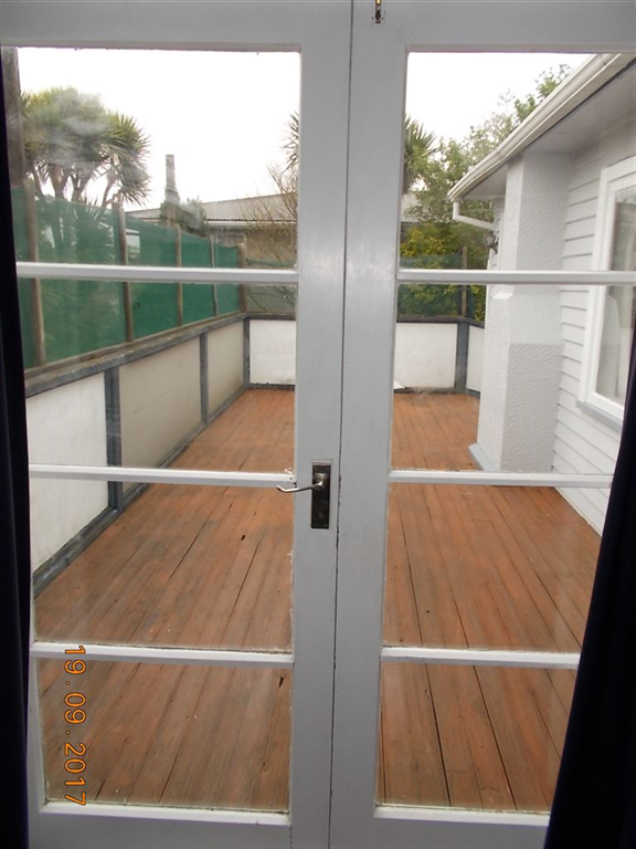 French Doors leading to deck