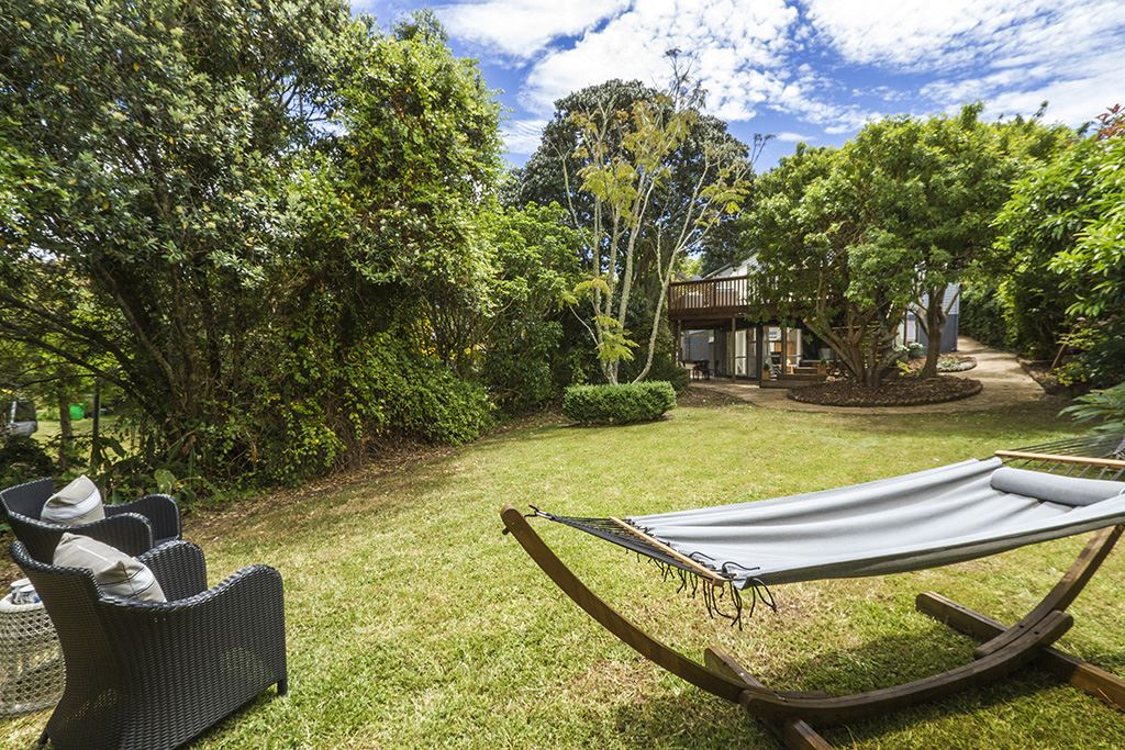 Beautiful large private backyard with good connection to upstairs and downstairs