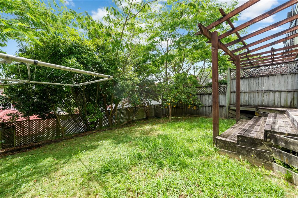 Back garden fully fenced