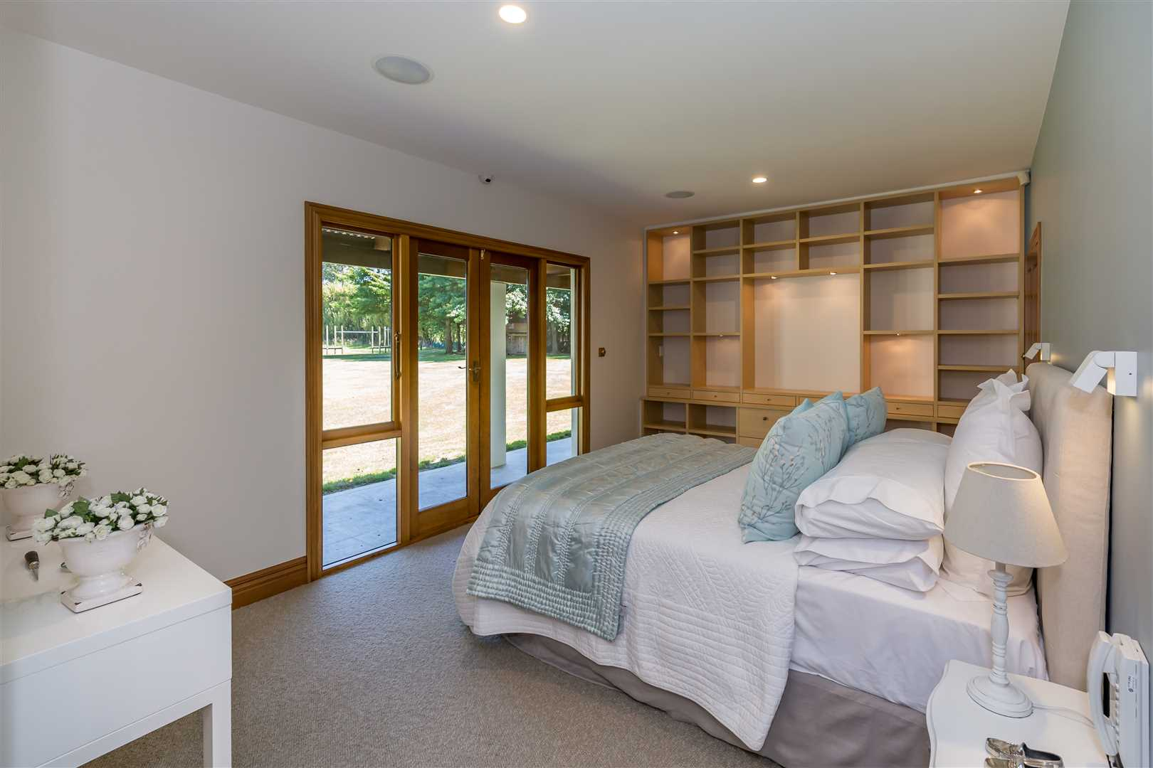 Bedroom 1 with built in wall unit