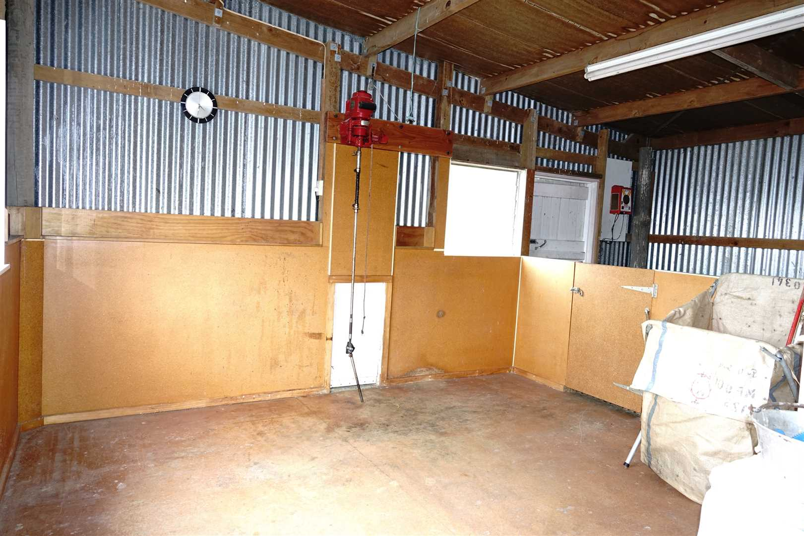 woolshed area with catching pens