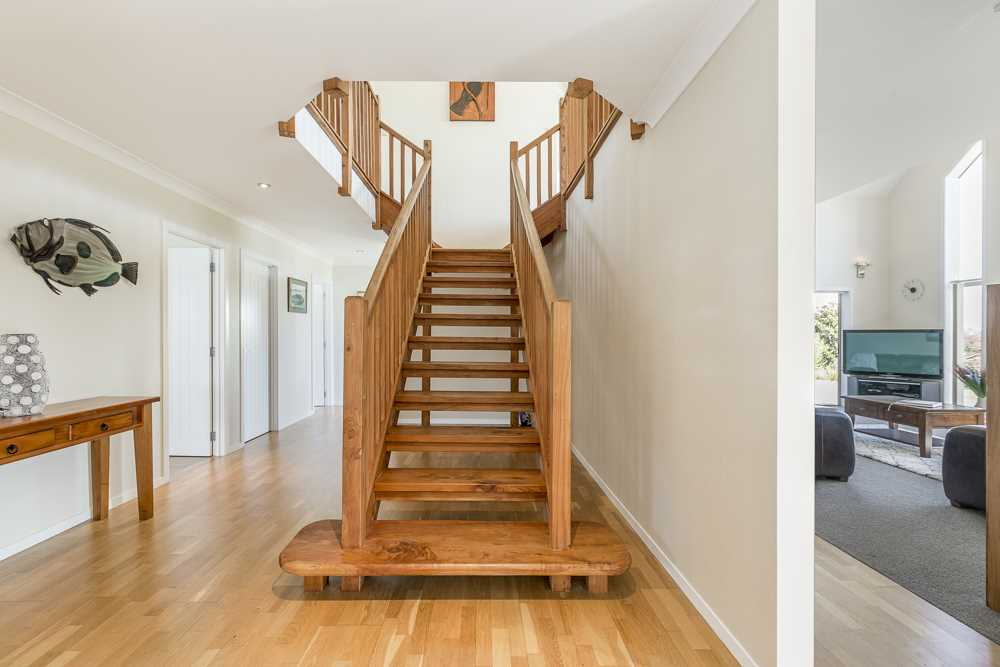 feature wooden staircase