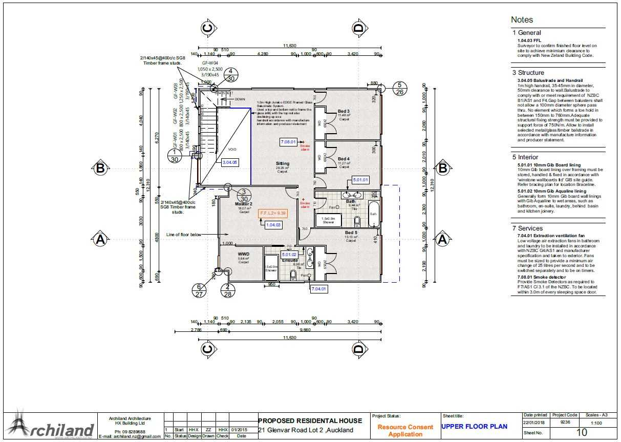 Proposed Plans for Residential House - Page 3