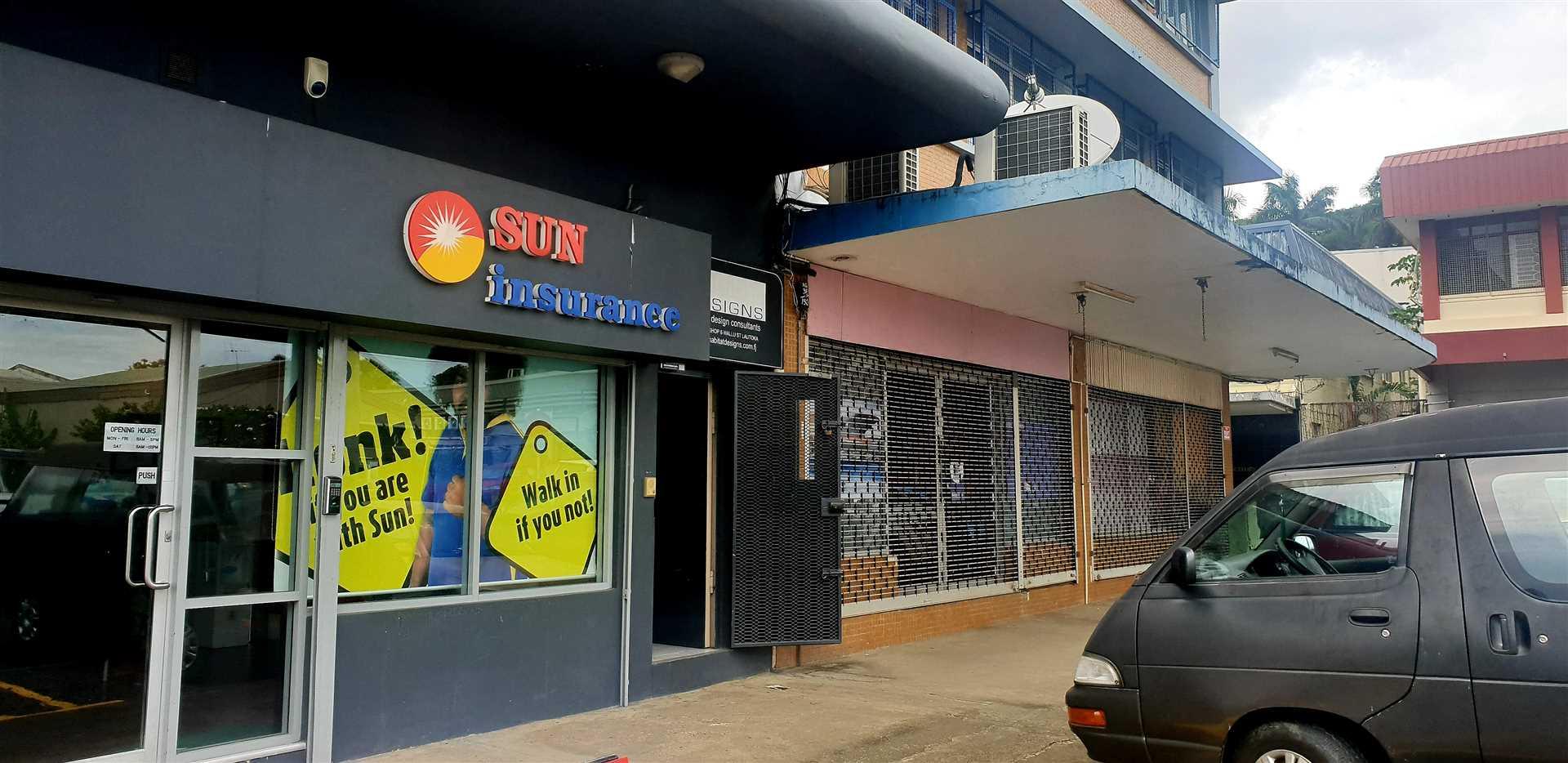 Positioned next door to Sun Insurance