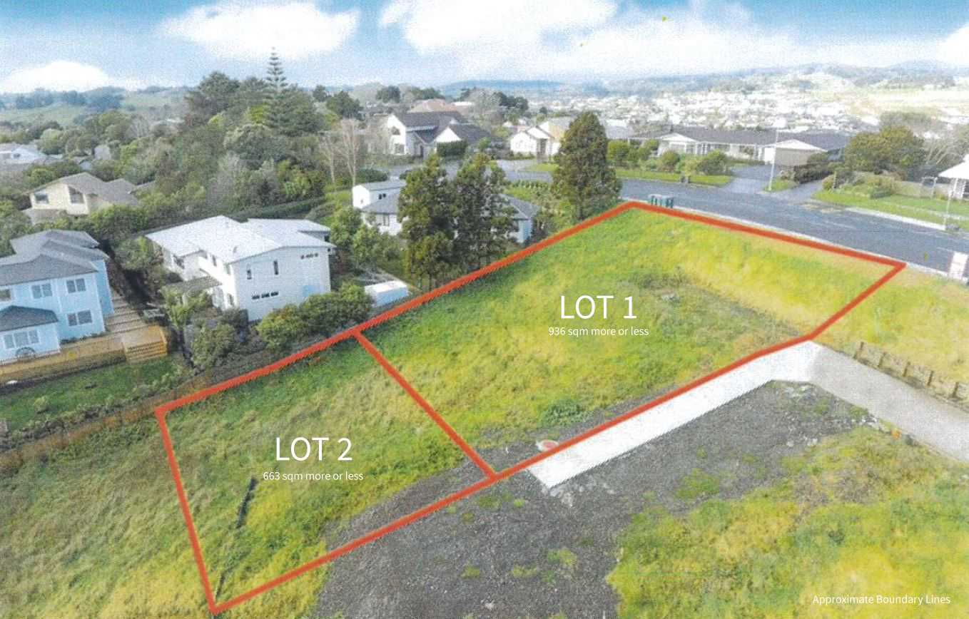 LOT 1 - 936m2 and LOT 2 -- 663m2