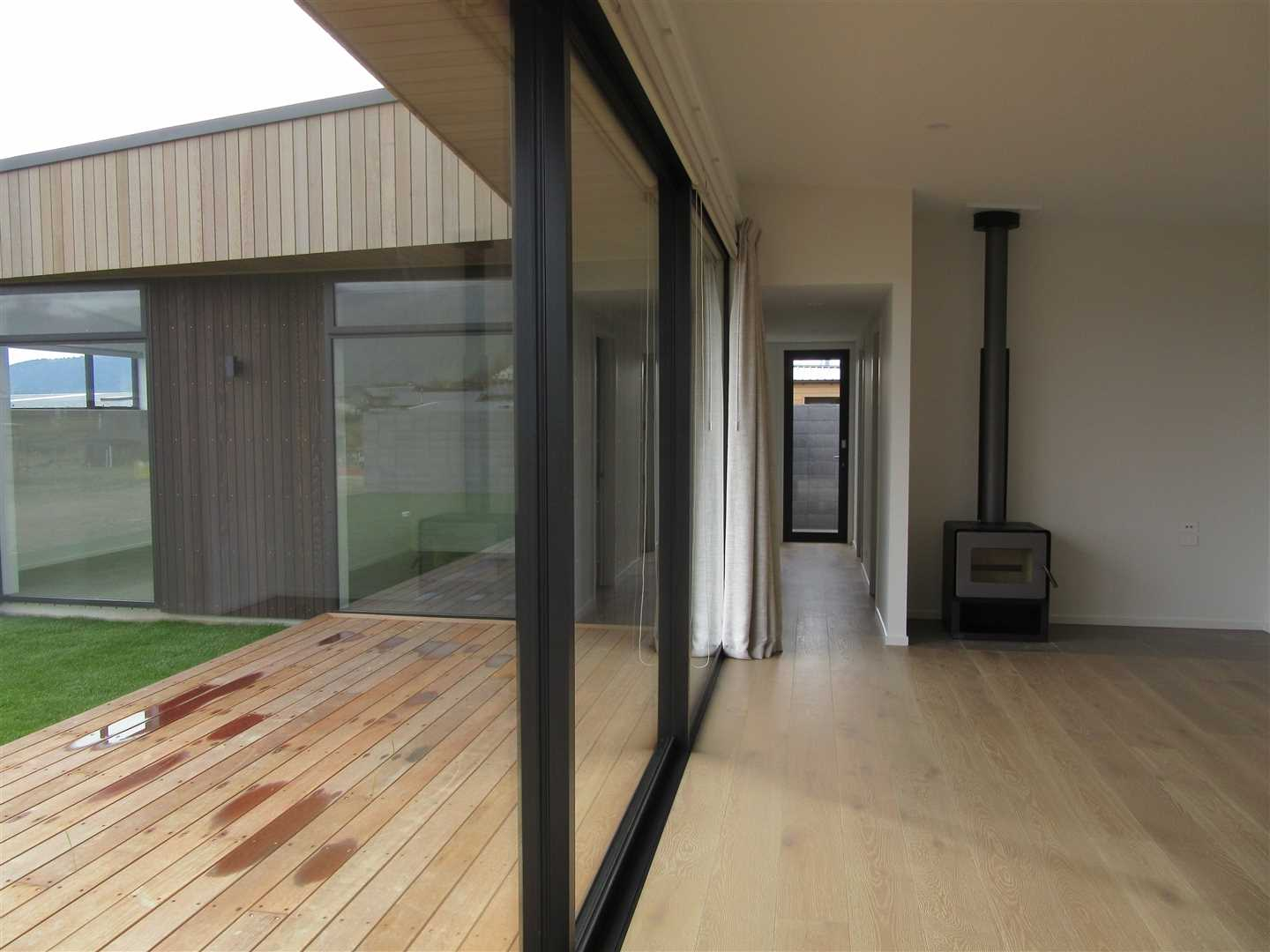 Living area and deck