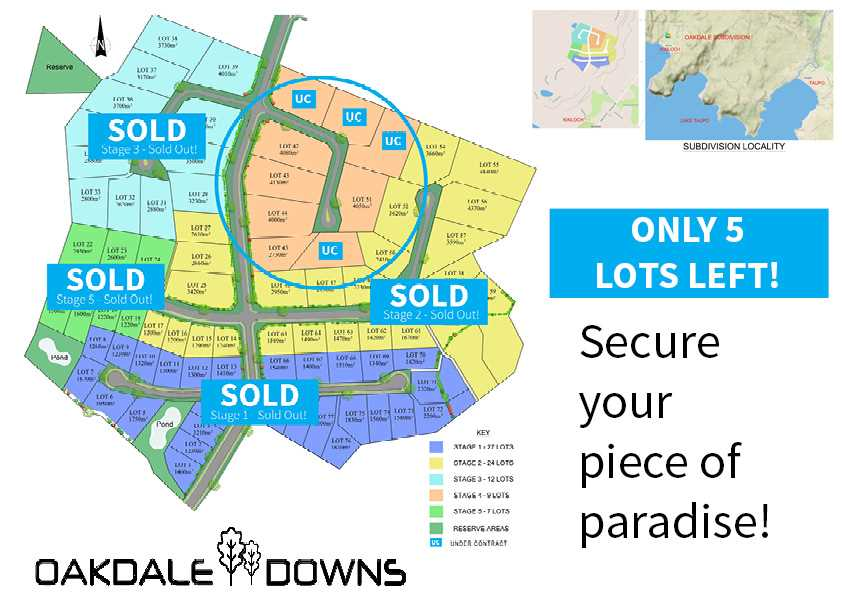 Secure Your Piece Of Paradise - Oakdale Downs