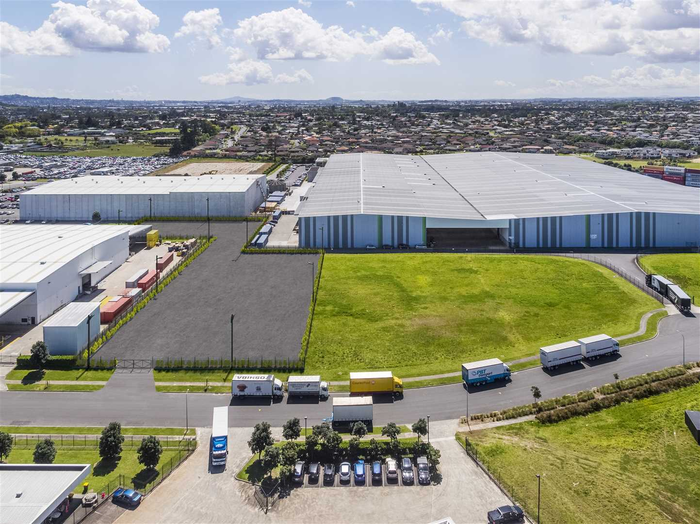 Auckland Airport location yard space