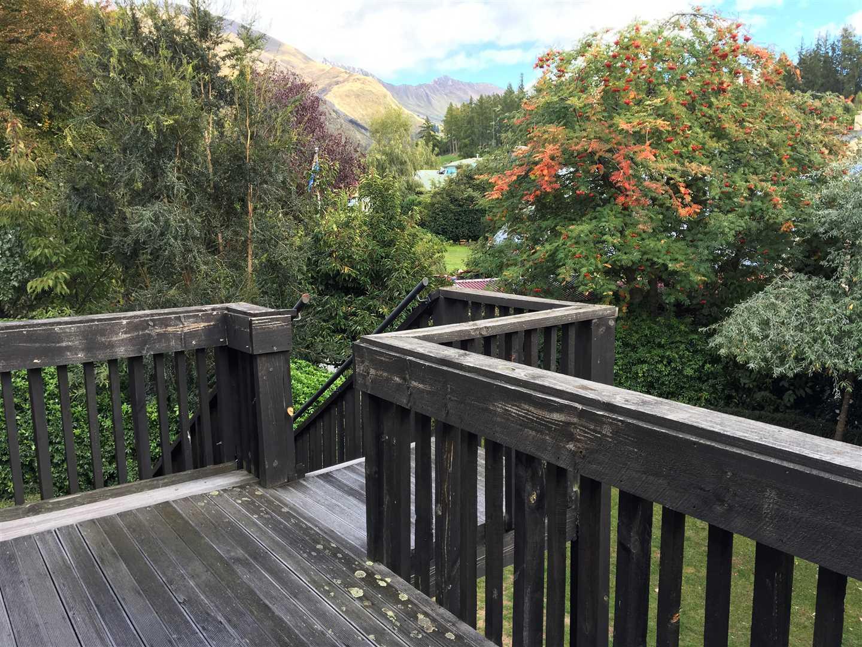 Deck upstairs