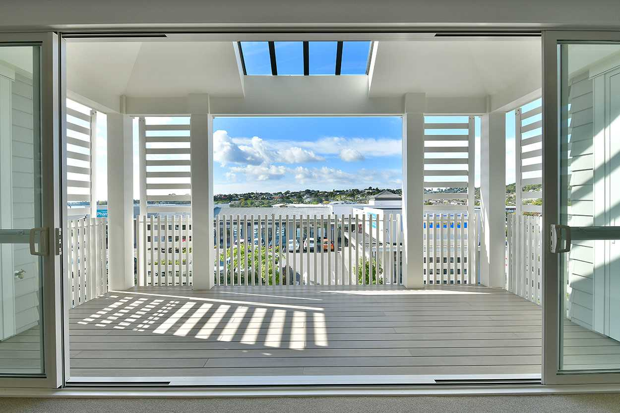 Enjoy expansive views from your covered deck ...