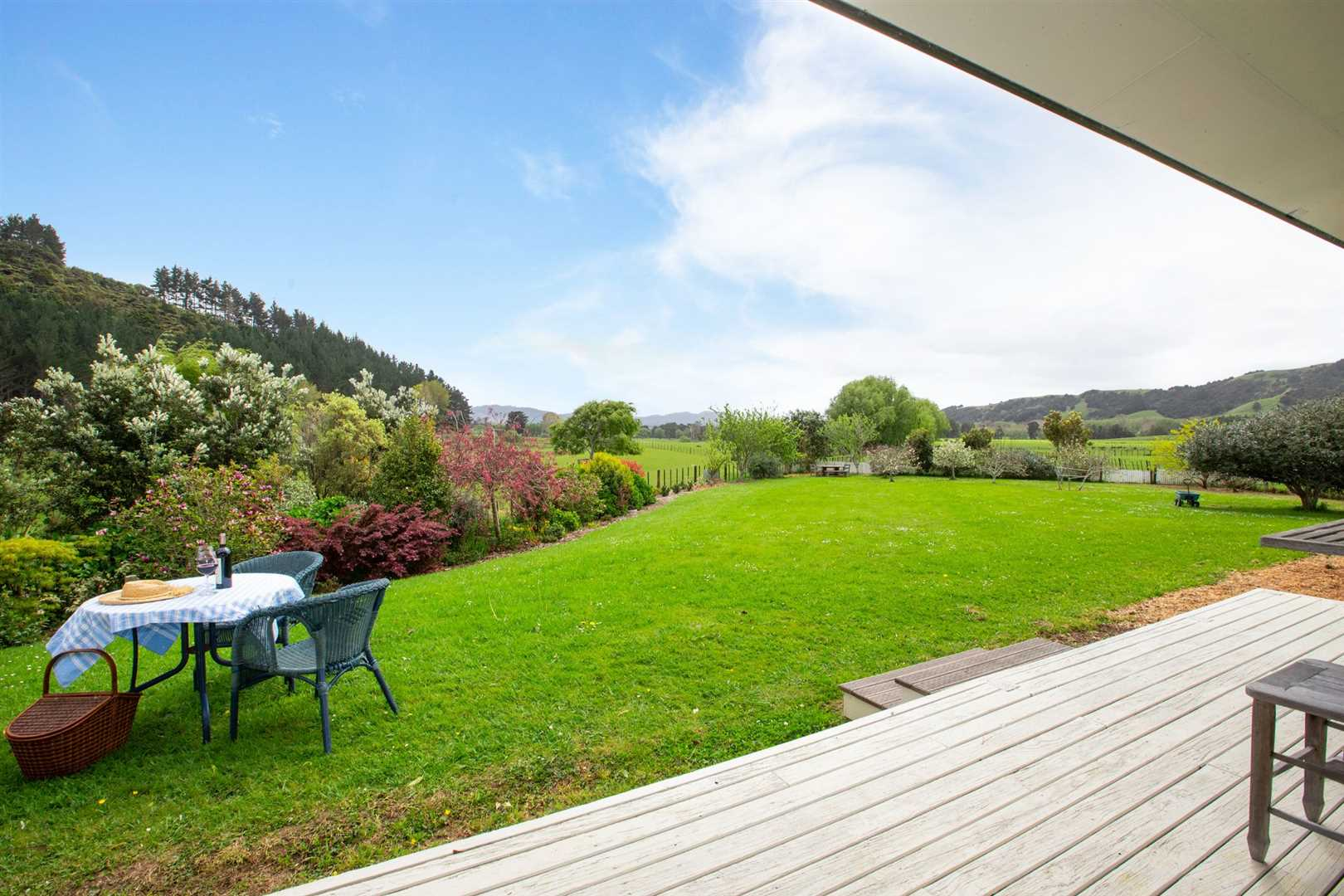 Lovely flat land, lawns and gardens. A place of peace