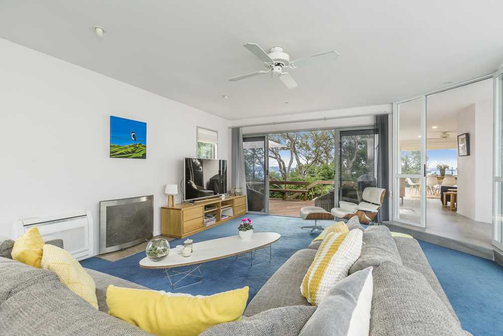 comfortable living with water views from most rooms