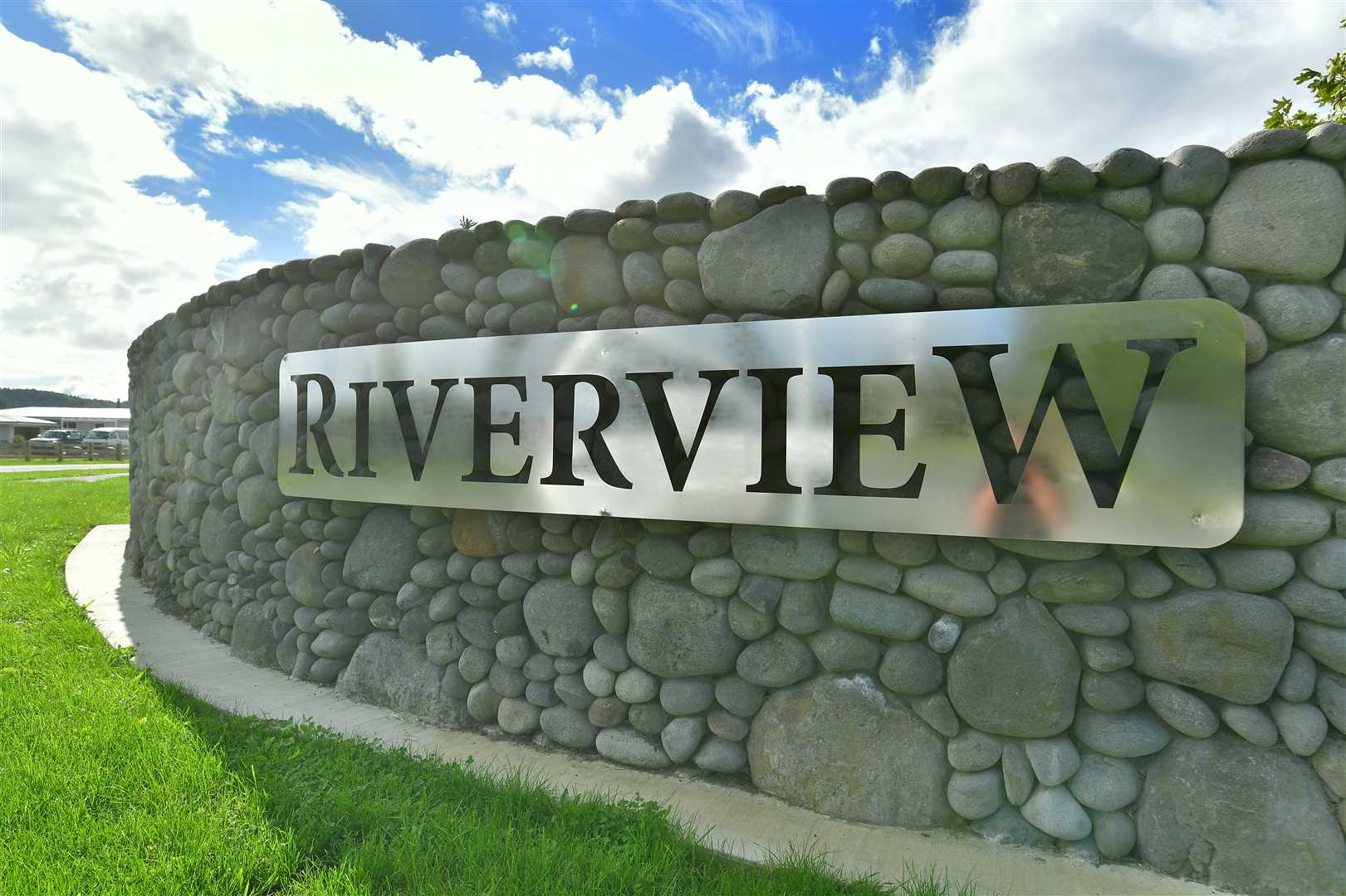 Smart entrance to the Riverview Estate