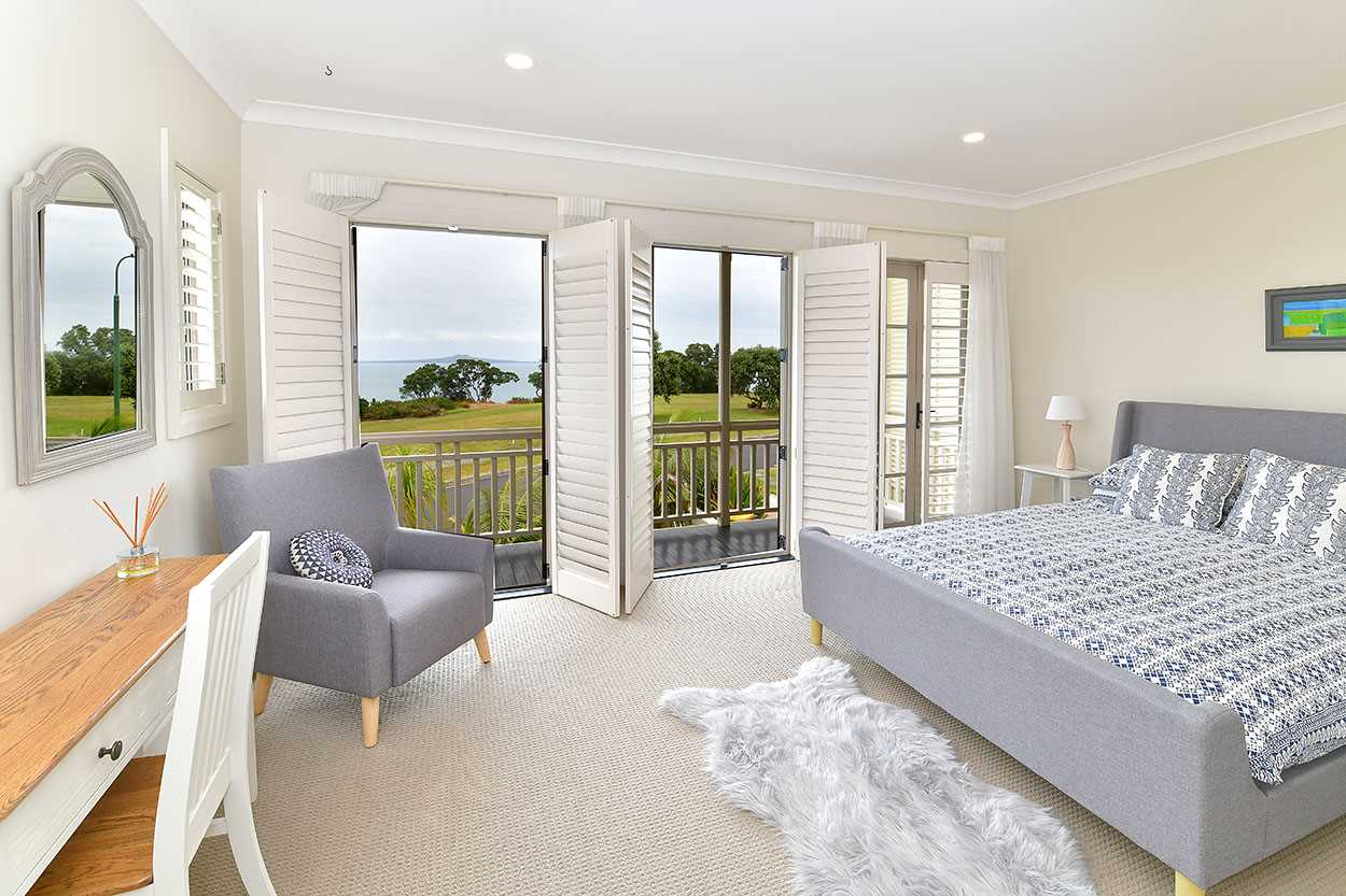 ... there are four bedrooms, all opening to decks