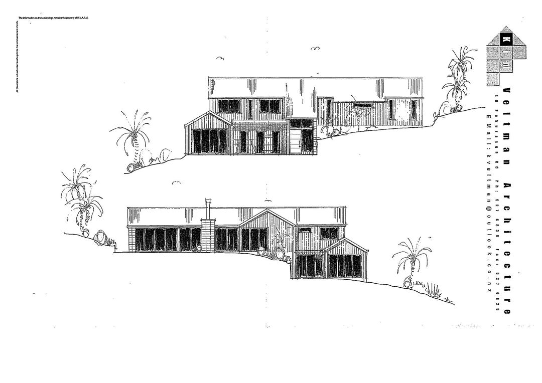 Concept plans designed for the site