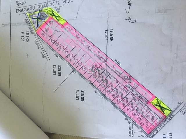 Subdivision Plans (pink area only)
