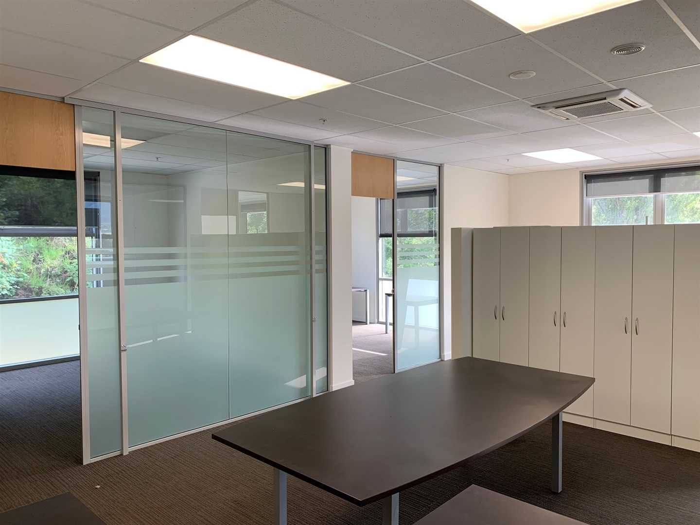 Large internal area for meetings and filing